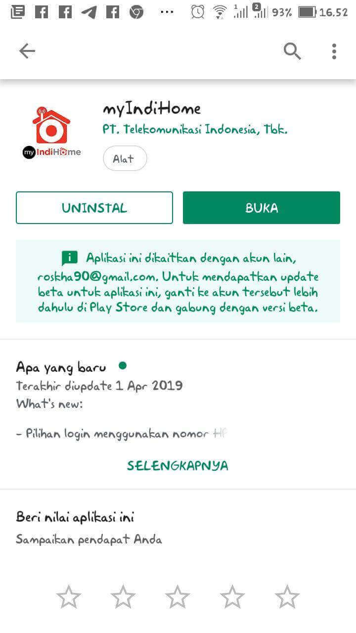 Download Aplikasi myIndiHome DI Playstore
