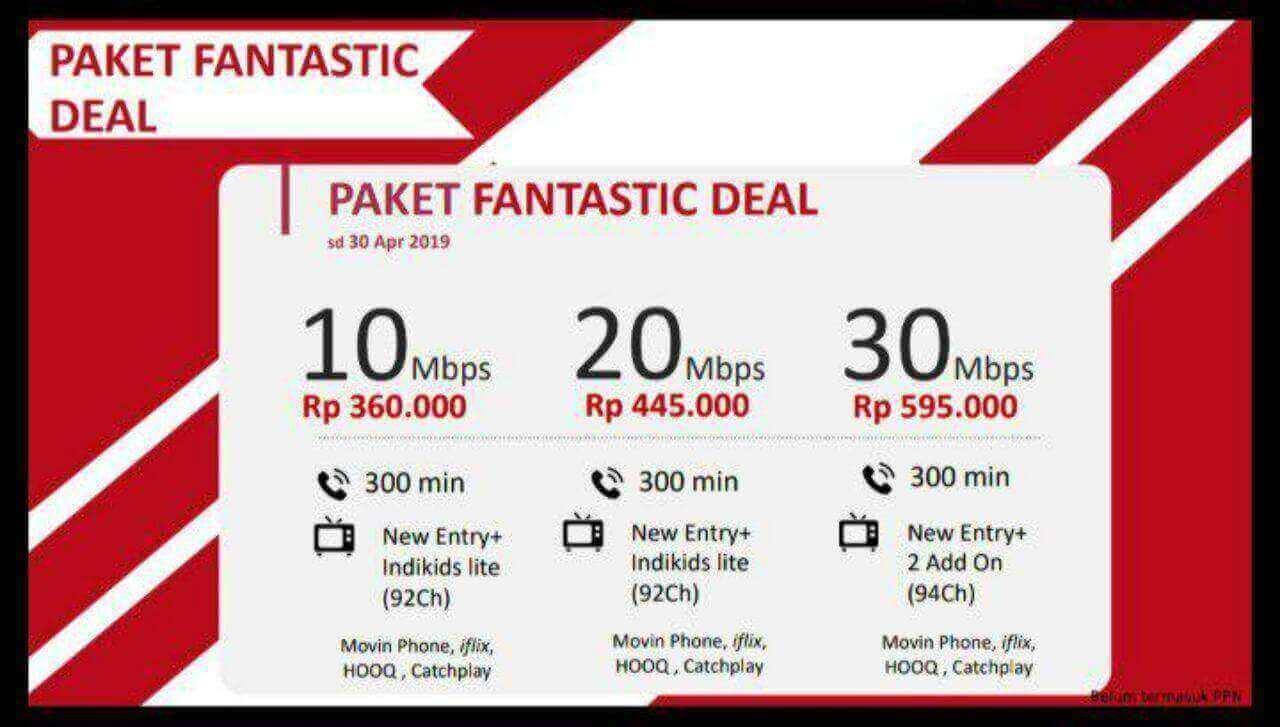 IndiHome Paket Fantastic Deal