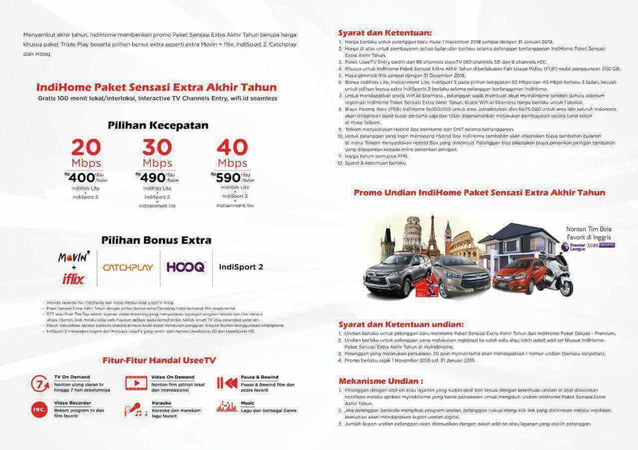 Daftar Harga Paket Indihome Perbulan Terbaru 2020 My Indihome Com