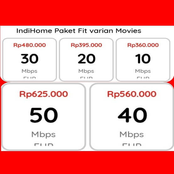 indihome Cililitan fit varian movies