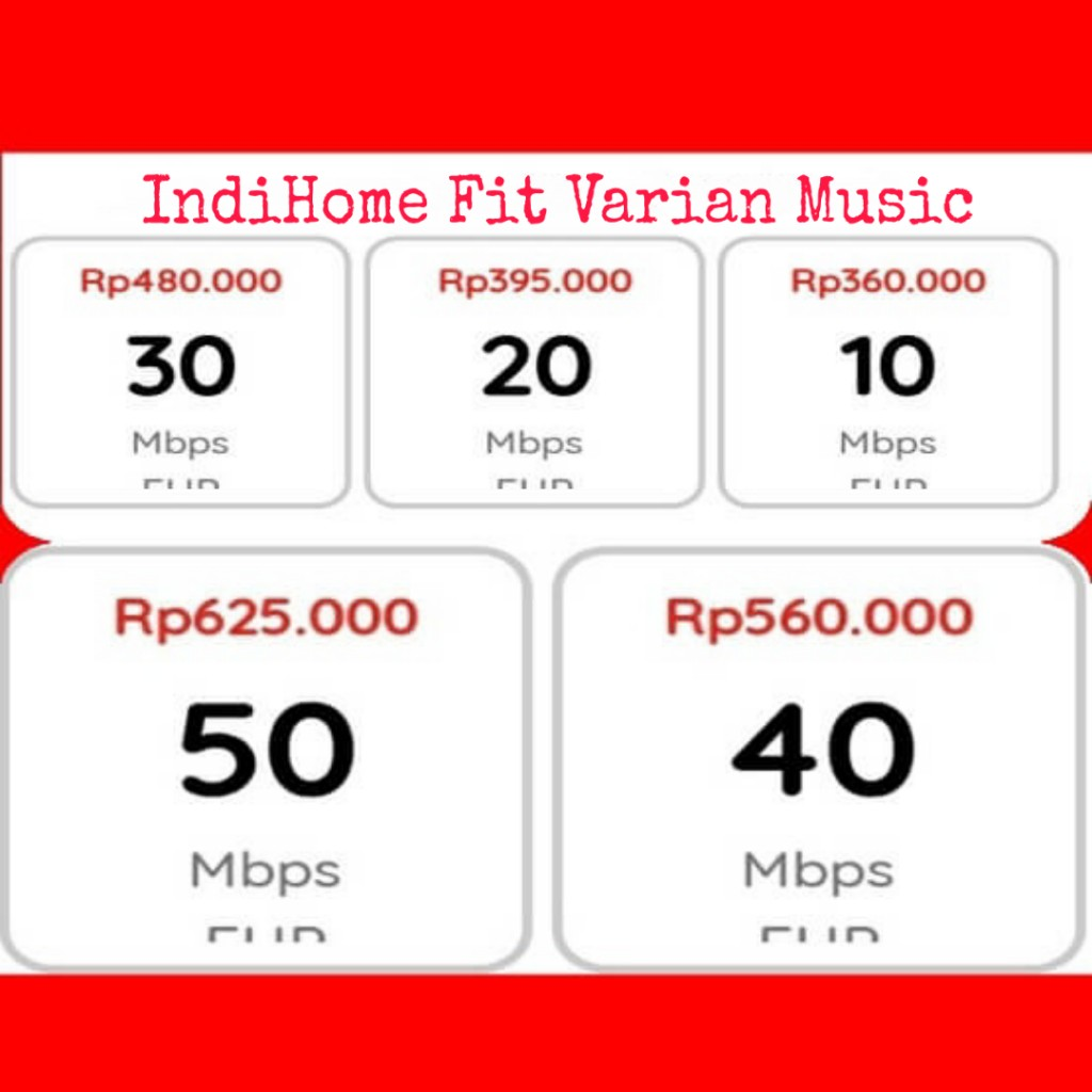 indihome promo fit varian music