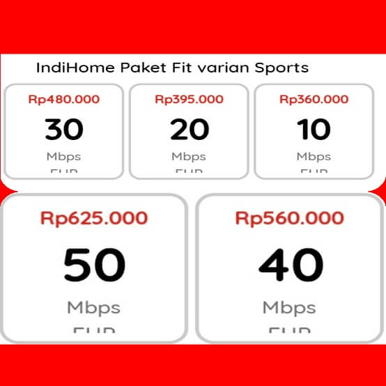 indihome Pulogadung fit varian sports