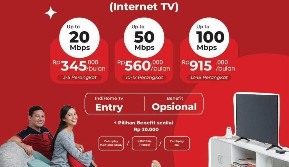 Cara Daftar IndiHome Paket Streamix Internet + Channel TV Kabel